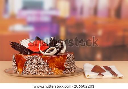 The Dessert cake - stock photo