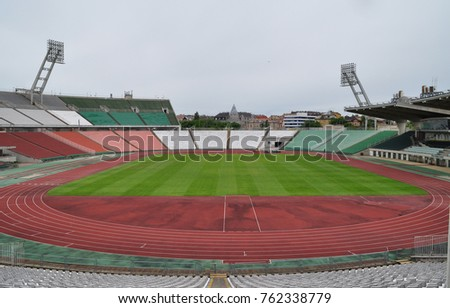 The destroyed Ferenc Puskás Stadium in Budapest, Hungary.