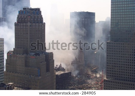 The Destruction 9/18/01 - stock photo