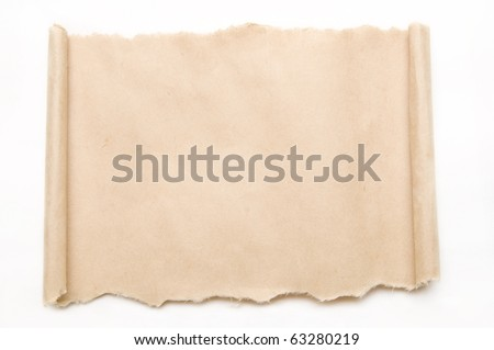 The detail texture of vellum paper scroll - stock photo
