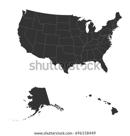 The Detailed Map Of The Usa Including Alaska And Hawaii The United States Of America