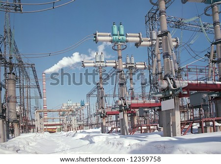 The device of distribution of an electricity. Photo - stock photo