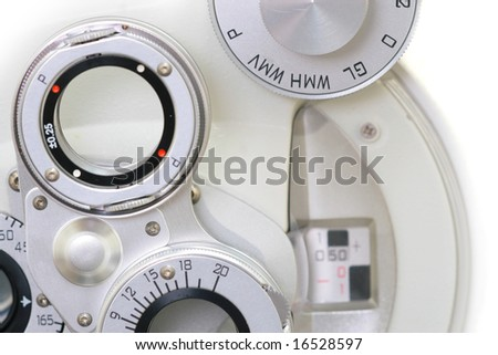 the device to the sight-testing - stock photo