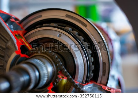 The device transmission car - stock photo