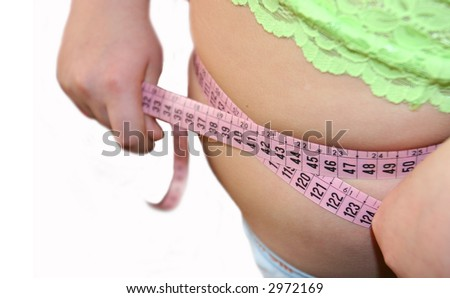 The diet is necessary to a figure - stock photo
