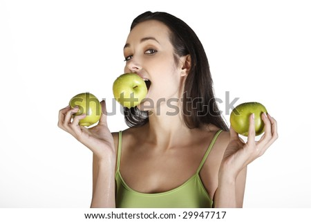 the diet of the green apple - stock photo