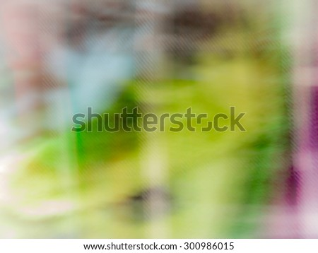 The digital blur Abstract picture. Geisha and Mount Fuji. - stock photo