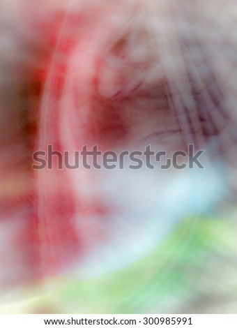 The digital blur Abstract picture. The old lady in the mountains. - stock photo