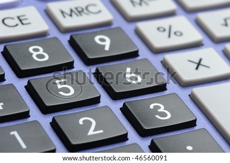 The digital keyboard. A photo close up