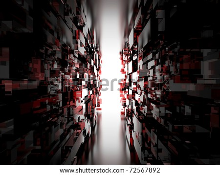 The digital tunnel - stock photo