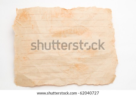 The dirty vellum paper