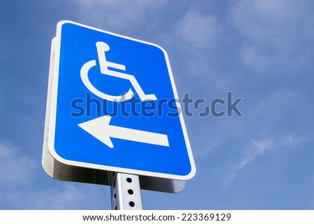 The disabled street sign. - stock photo