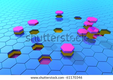 The disintegration of the symmetric space - stock photo