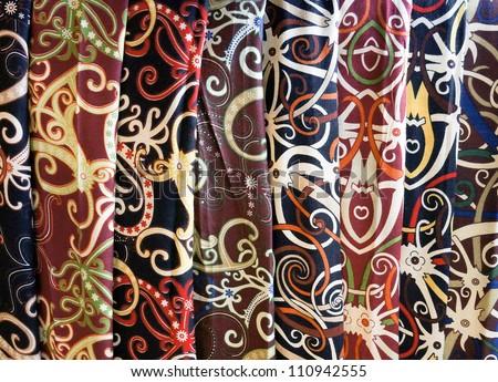 The Diversity of Borneo Batik - stock photo
