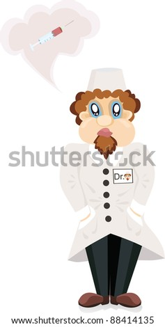 The doctor about a syringe - stock photo