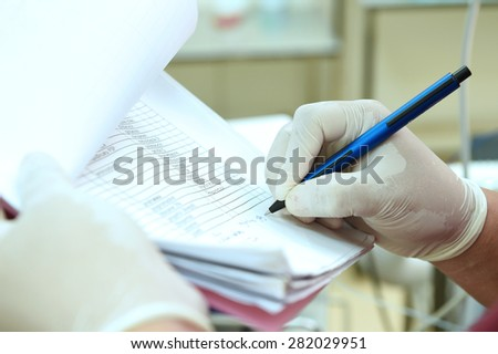 the doctor will be note - stock photo