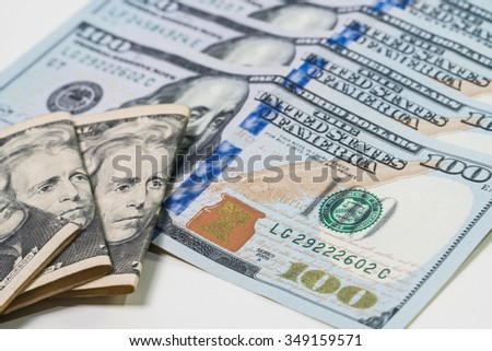 The dollar banknotes for business and finance concept - stock photo