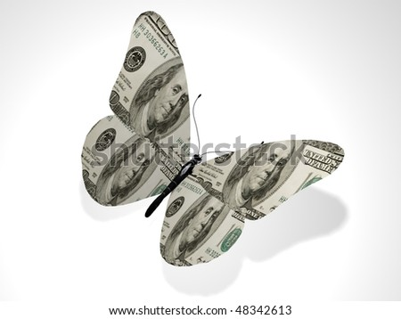 The dollar butterfly