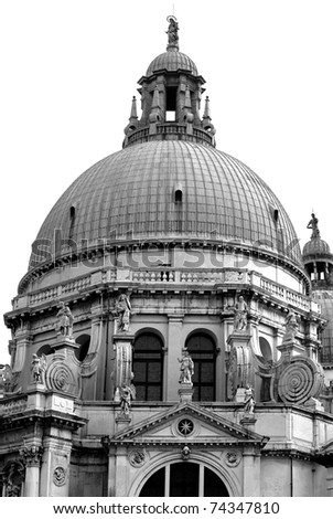 The dome of Chiesa Della Salute, Venice, Italy - stock photo