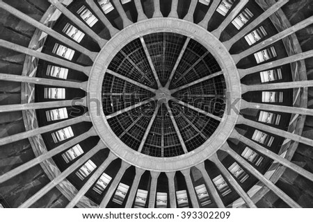 The Dome of Hala Stulecia (Centennial Hall) also known as Hala Ludowa (People's Hall) in Wroclaw, Poland, UNESCO World Heritage Site