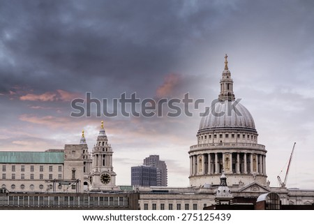 The dome of St Paul's Cathedral.