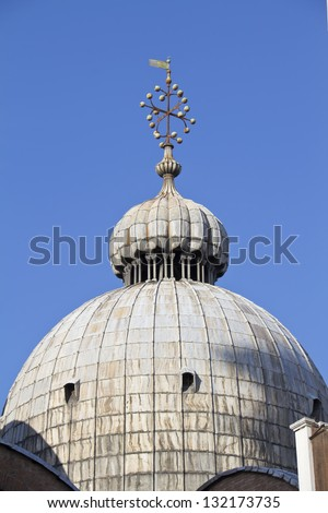 The dome of the Basilica San Marco in Venice - stock photo