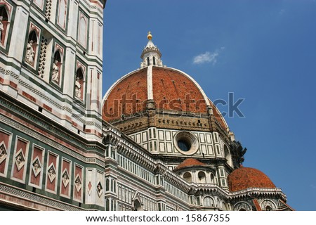 The dome of the Florence Duomo (Florence, Italy) - stock photo