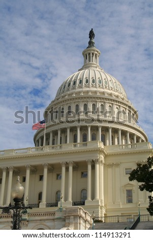 The dome of United States Capitol building.