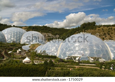 The domes of the Eden Project in Cornwall