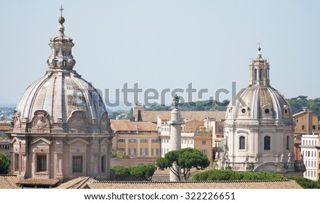 The domes, Rome, Italy. - stock photo
