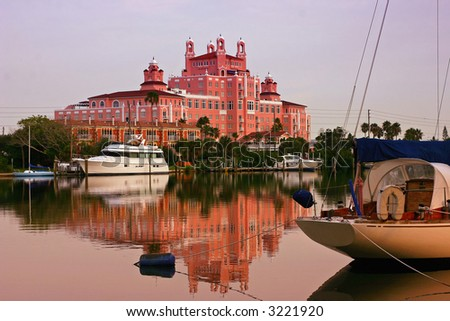 The Don Cesar Pink Motel In Saint Petersburg Florida - stock photo