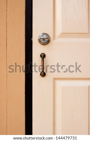the door - stock photo