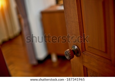 The door handle Open - stock photo