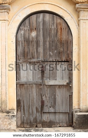 The door of Ancient Ananda Temple in Old Bagan, Myanmar.