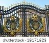 the door of Buckingham Palace, London - stock photo