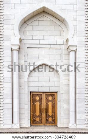 the door to the mosque - stock photo