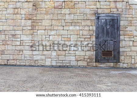 the door with wall