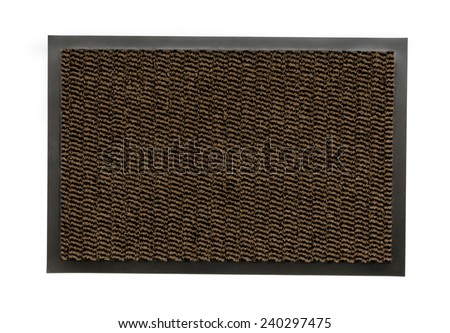 The doormat isolated on white background - stock photo