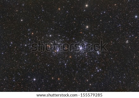 The Double Cluster - stock photo