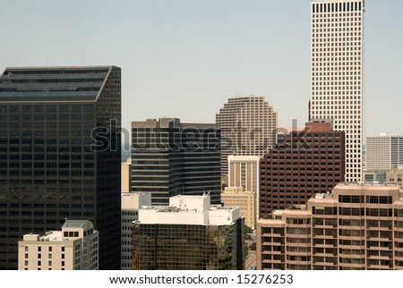 the downtown business district of New Orleans, Louisiana - stock photo