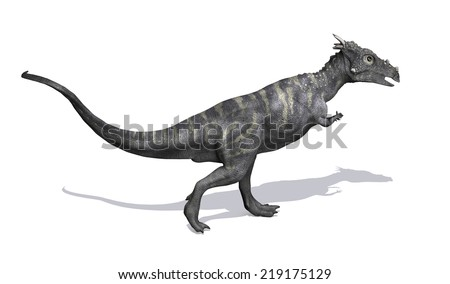 The Dracorex dinosaur lived in North America during the Late Cretaceous period - 3D render. - stock photo