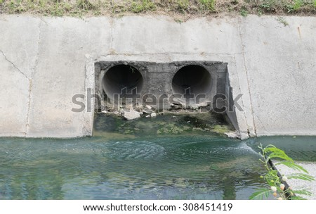 The drain in the industry. - stock photo