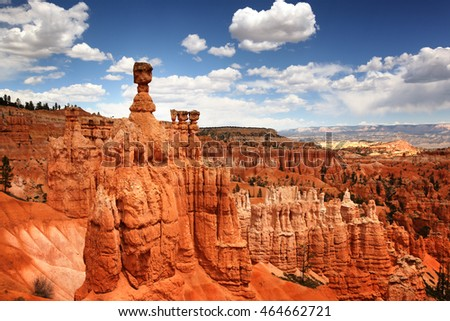 The dramatic landscape of Bryce Canyon National park, Utah, USA