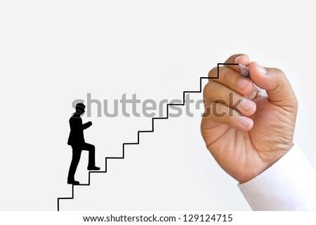 The drawing stair and business.