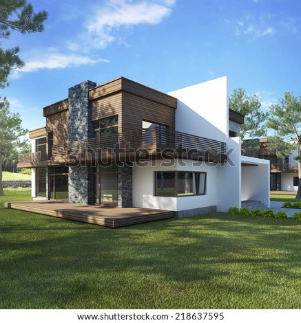 The dream house - stock photo