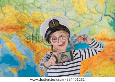the dream of travel, selfie travel   - stock photo