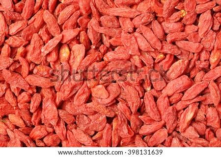 The dried fruit of medlar background - stock photo