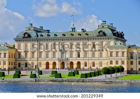 The Drottningholm Palace, Drottningholm, Sweden - stock photo