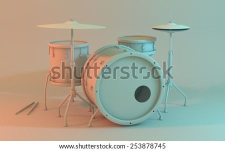 The drum - stock photo