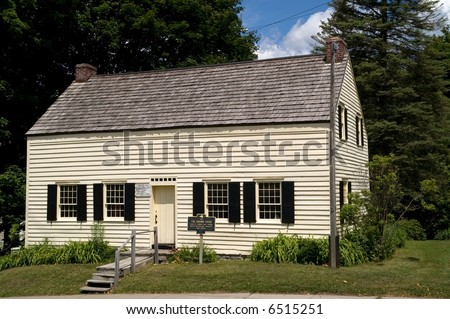 The Drumm House in Johnstown, NY, was built in 1763 and was the home of Edward Wall, School Master of Sir William Johnson's Free School. - stock photo